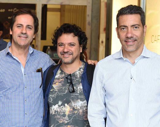 Marcio Tavares, Alessandro Sartore e Eduardo Loiola