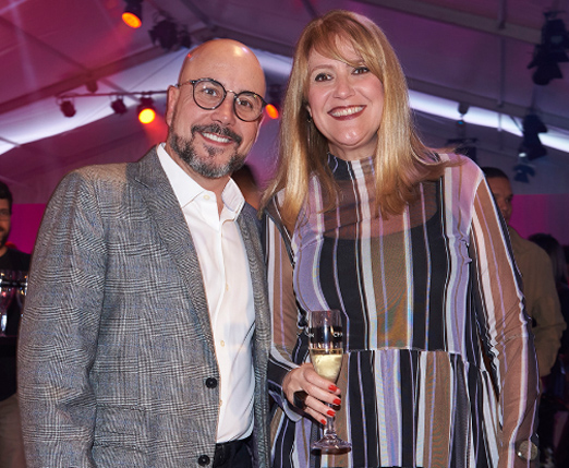 Orlando Diniz e Claudia Lobo
