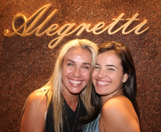 Susana Madruga e a filha Mariah Mascarenhas