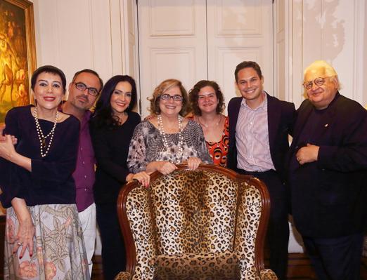 Yacy Nunes, Christovam de Chevalier, Liliana Rodriguez, Hildegard Angel, Berenice Seara, Paulo Cappelli e Carlos Alberto Serpa