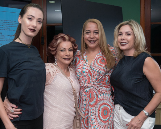 Aline de Bairros, Bia Velloso, Candida Virgínia e Mercedes Herrrera