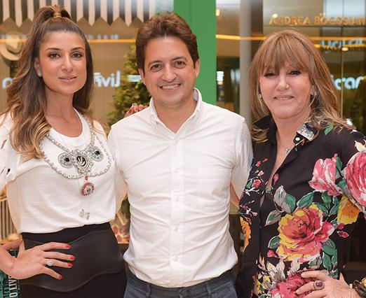 Andrea Bogosian, Carlos Jereissati Filho e Traudi Guida