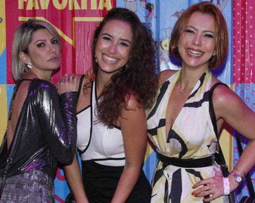 Antonia Fontenelle, Amanda Richter e Simone Soares