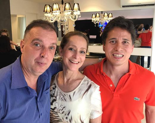 Bayard Boiteux, Ana Botafogo e Rafael Higashi