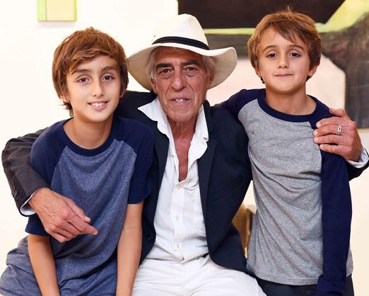 Cadas com os netos Mario e Jorge