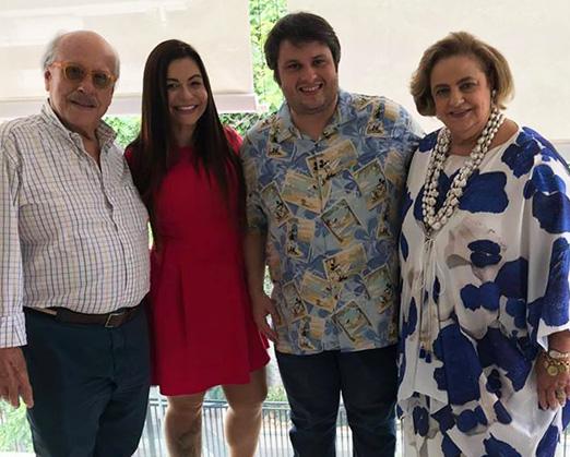 Claudio Aboim, Bruna Vieira, Claudio André Castro e Cristina Aboim