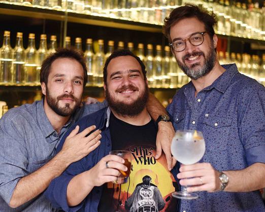 Elia Schramm, Rafael Cavalieri e Tomas Rangel