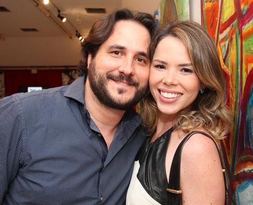 Horácio Ernani e sua amada Daniela D'Antonio