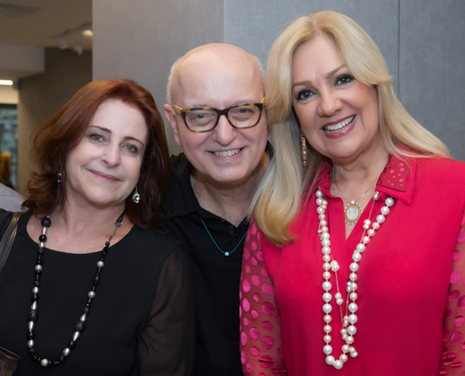 Ivone Szekacs, Alberto Sabino e Alda Soares