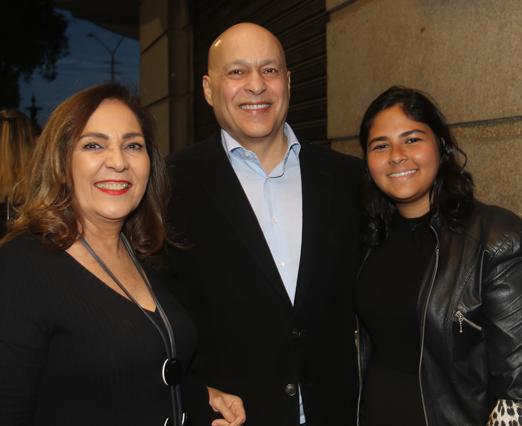 Jacyra Lucas, Luiz Xavier e Daniela Lima