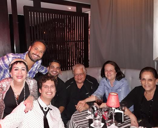 Marcelo Calero, Yacy Nunes, Santiago Villalba, Thiago Mello, o casal Serpa e Belita Tamoyo