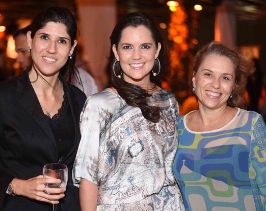 Mariana Ribeiro, Adriana Lacerda e Christiane Scherer