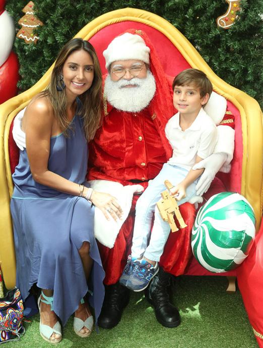 Papai Noel com Flávia Sampaio e Balder Batista