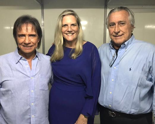 Roberto Carlos com Maninha e Leleco Barbosa