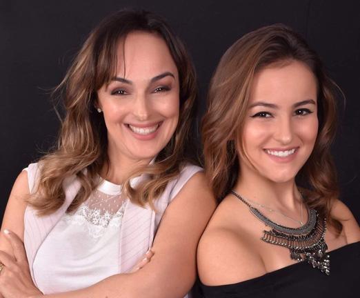 Suzana Giraldez e a filha Duda