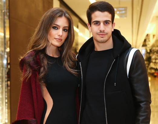 Victoria Grandene e Enzo Celulari