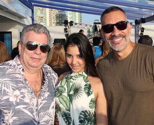 Edno Galindo, Estéfanie Figueiredo e Cahê Rodrigues