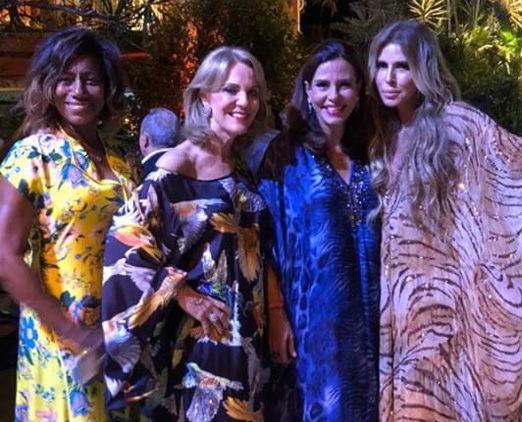 Glória Maria, Ana de Paula, Narcisa Tamborindeguy e Nina Stevens
