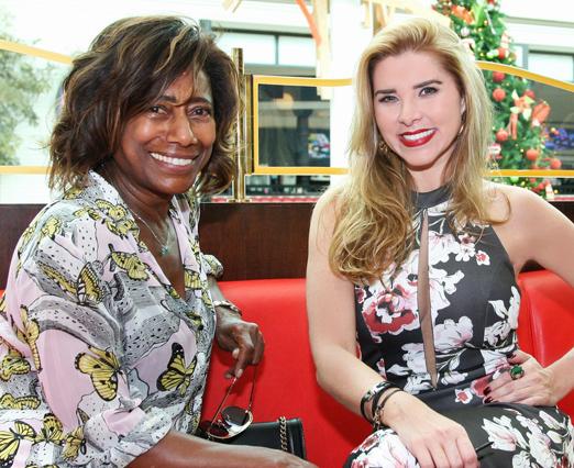 Glória Maria e Bianca Marques