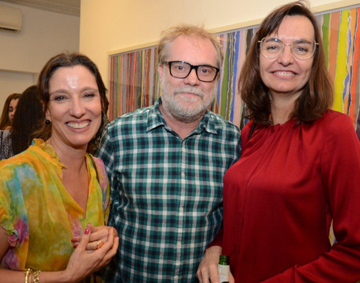 Isabela Capeto, Raul Mourão e Karen Harley