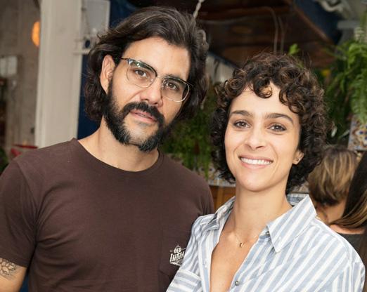Juliano Cazarré e Leticia Bastos