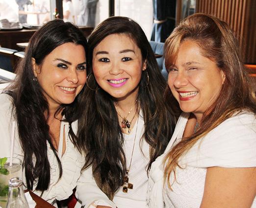 Luciana Franco, Mônika Nakamura e Cristina Carvalho