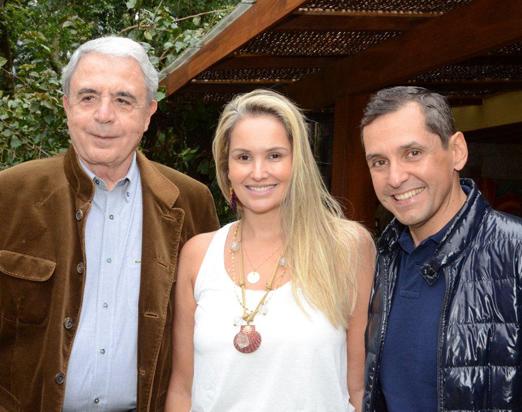 Luiz Celso Monteiro de Andrade com Luciana e Beto Pittigliani