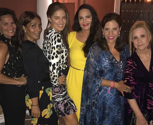 Madga Cotrofe, Grace Hajfler, Vanessa de Oliveira, Luiza Brunet, Narcisa Tamborindeguy e Madeleine Saade