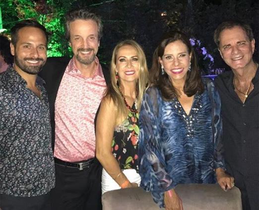 Marcelo Calero, Alexis de Vaulx, Carla Lubisco, Narcisa Tamborindeguy e Edgar Moura Brasil