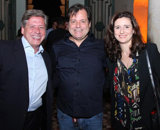 Marcelo Moura, Gilberto Buffara Filho e Mariana Tamborindeguy