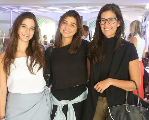 Maria Antonia, Julia Fonseca e Paula Bandeira