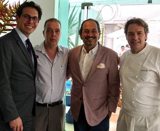 Netto Moreira, Bayard Boiteux, Philippe Seigle e Jerôme Dardillac