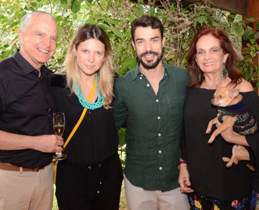 O casal Stambowsky com Barbara Pittigliani e Fabrizio Godoy