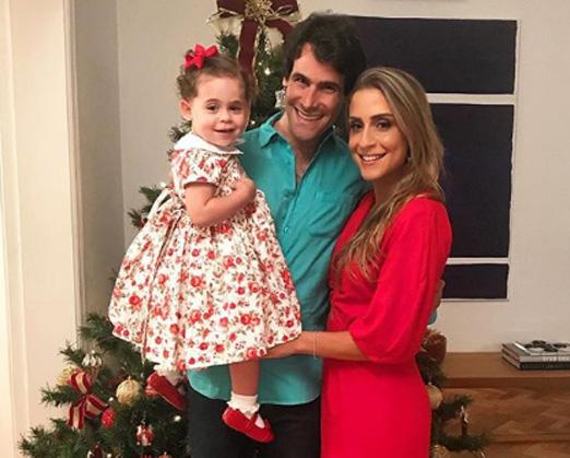 Pippo Garnero, Carol Buffara e a fofinha Maria Julia