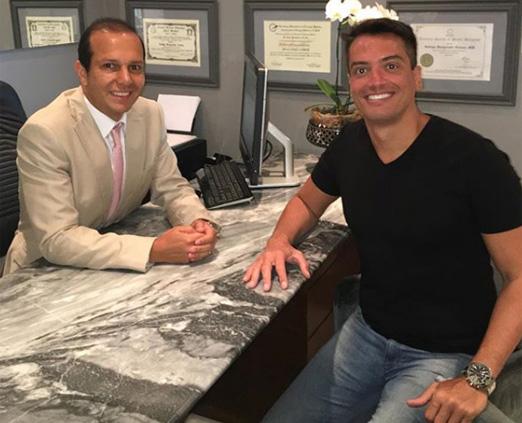 Rodrigo Mangaravite e Leo Dias