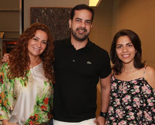 Thaylla Baptista, Zênio Farias e Andrea Martins