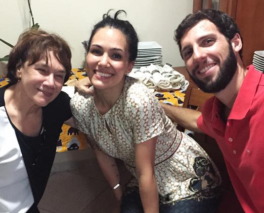 Alda Mendonça com os noivos Ingrid Boiteux e Marcelo Niero