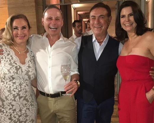 Amaury Jr e sua Celina com Clovis Torres e Milva Lopes