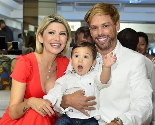 Antonia Fontenelle, Bruno e o fofinho Salvatore