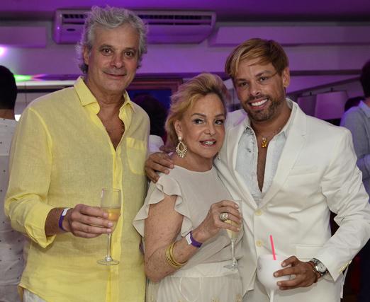 Edinho Veneziani, Helena Mottin e Bruno Chateaubriand