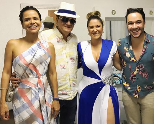 Lene DeVictor, Mauricio Mattos, Maria Rita e Vinicius Belo