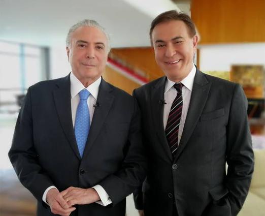 Michel Temer e Amaury Jr