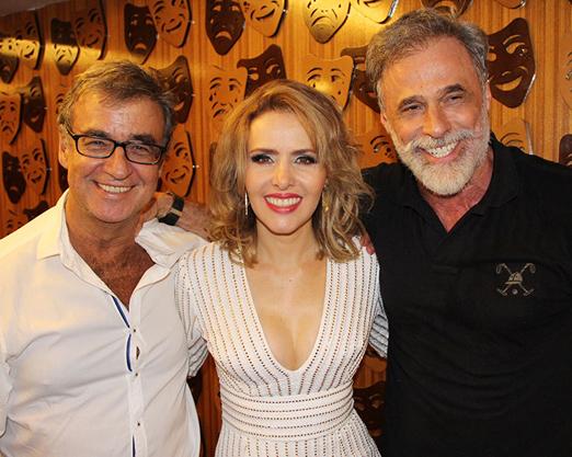 Miguel Paiva, Leona Cavalli e Oscar Magrini