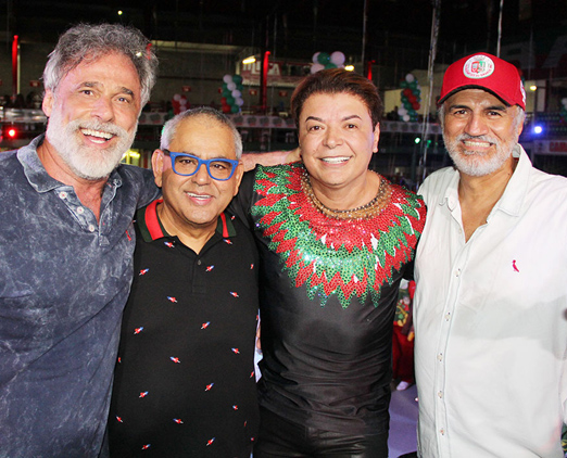 Oscar Magrini, Jayder Soares, David Brazil e Helinho Oliveira