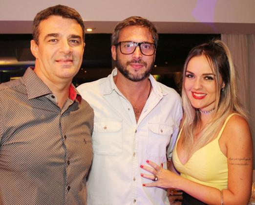 Otávio Sampaio, Daniel Michillini e DJ Nicole Baldwin