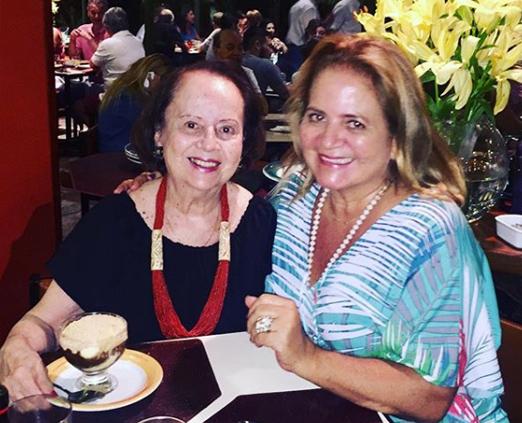 Silvia Doria e a filha Renata Fraga
