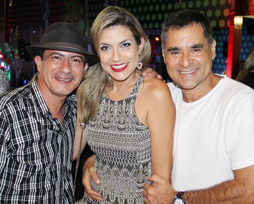 Tom Veiga, Vanessa Aguiar e Aroldo Mendonça