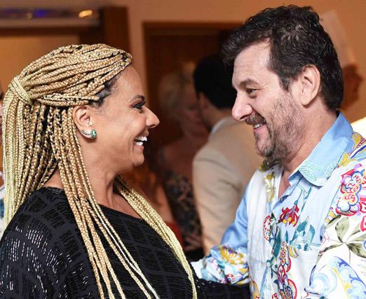 Viviane Araújo e Roberto Birindelli