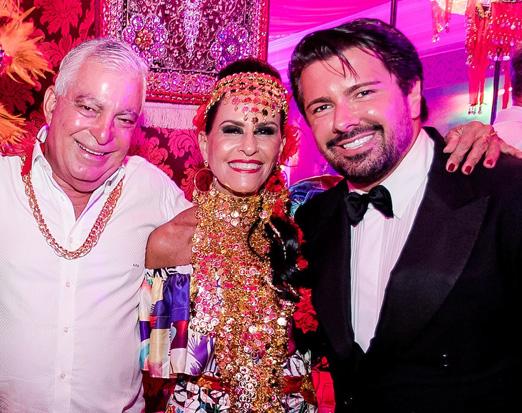 Afonso e Beth Pinto Guimarães com André Ramos
