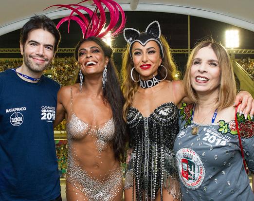 Camarote da Grande Rio - Luiz Fernando Coutinho, Juliana Paes, Sabrina Sato e Liège Monteiro